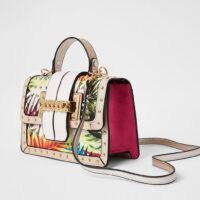 River Island Beige tropical print satchel | printed satchels | top handle bags