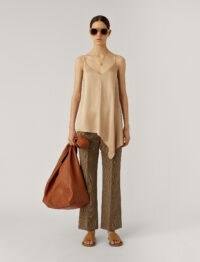JOSEPH Biddy Texture Satin Blouse / asymmetric camisole