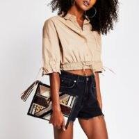 River Island Black embellished leather clutch bag | textured bags