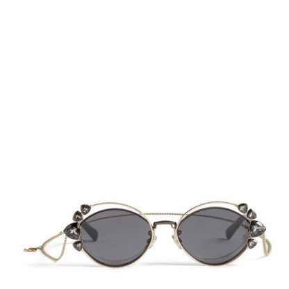 JIMMY CHOO Shine sunglasses | crystal embellished eyewear - flipped