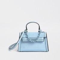 River Island Blue mini tote cross body bag | small top handle bags