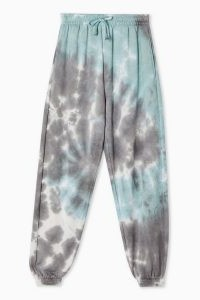 TOPSHOP Blue Tie Dye Joggers / cuffed jogging bottoms