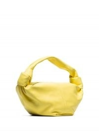 Bottega Veneta mini Jodie clutch / yellow-leather single top-handle bags