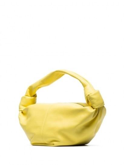 Bottega Veneta mini Jodie clutch / yellow-leather single top-handle bags - flipped