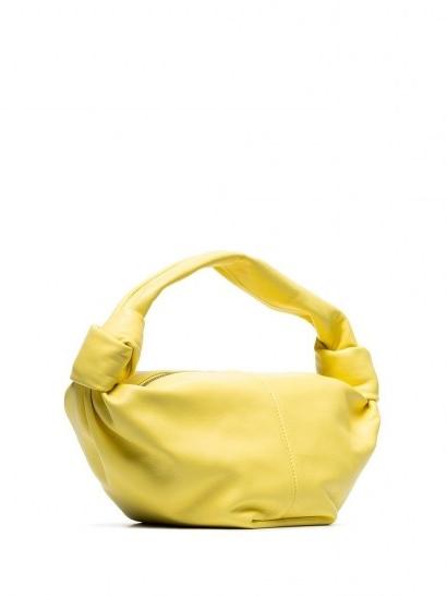 Bottega Veneta mini Jodie clutch / yellow-leather single top-handle bags