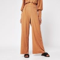 RIVER ISLAND Brown wide leg trouser – women's easy style trousers