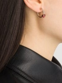 Brumani 18kt rose gold Manaca diamond and topaz hoops / luxe hoop earrings