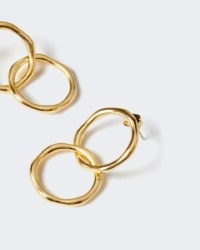 JIGSAW CALLIE DOUBLE HOOP EARRINGS / stylish modern hoops