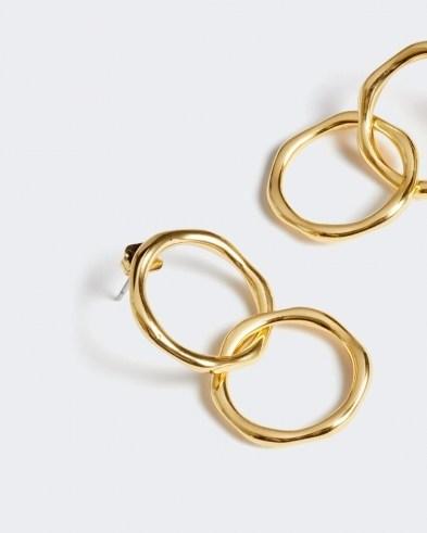 JIGSAW CALLIE DOUBLE HOOP EARRINGS / stylish modern hoops - flipped