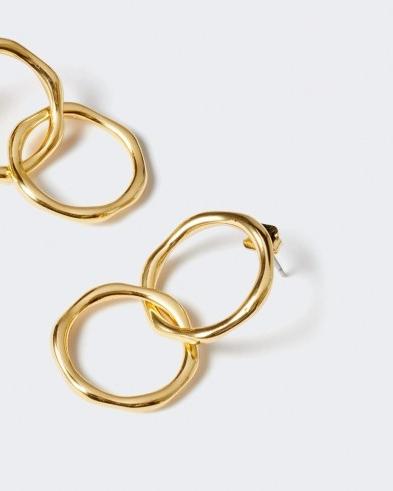 JIGSAW CALLIE DOUBLE HOOP EARRINGS / stylish modern hoops