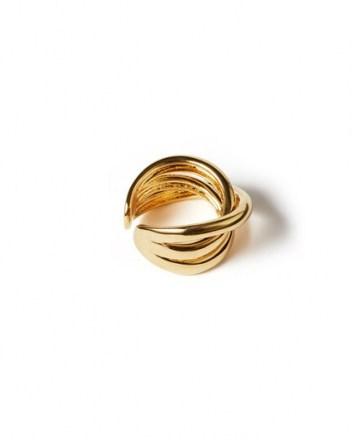 JIGSAW CALLIE GOLD OPEN RING / modern twist design rings / essential day accessory / stylish fashion jewellery - flipped