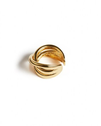 JIGSAW CALLIE GOLD OPEN RING / modern twist design rings / essential day accessory / stylish fashion jewellery