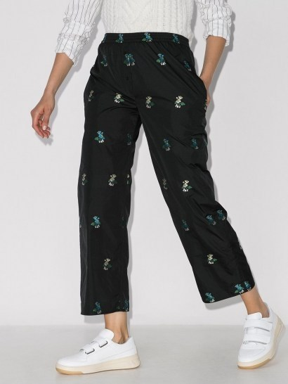 Cecilie Bahnsen Amber cropped floral-embroidered trousers - flipped