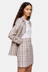TOPSHOP Check Mini Skirt / checked skirts
