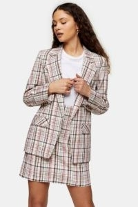 TOPSHOP Check Suit Blazer / checked blazers / skirt & jacket suits