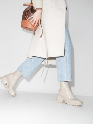 Chloé Betty 70mm Rain Boots / designer chunky ankle wellies - flipped
