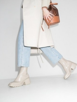 Chloé Betty 70mm Rain Boots / designer chunky ankle wellies