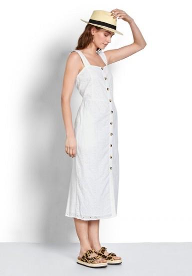hush Cossura Broderie Dress / need to have white sundress