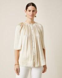 JIGSAW CROCUS DRAPE GATHERED TOP Vanilla / elegant luxe style blouses