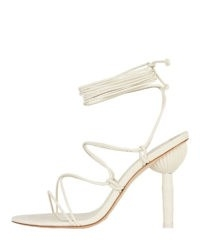 CULT GAIA Soleil Bamboo Heel Sandals | white ankle wrap sandal | summer parties