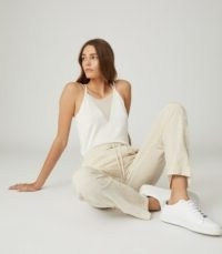 REISS DARCY SHEER PANEL CAMI WHITE / essential tops / style staple