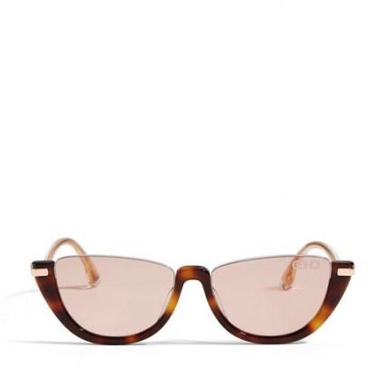 JIMMY CHOO Iona sunglasses   pink-gold mirror lenses   chic cat eye shape eyewear - flipped