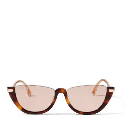 JIMMY CHOO Iona sunglasses   pink-gold mirror lenses   chic cat eye shape eyewear
