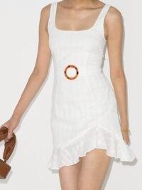 De La Vali Christabel belted mini dress