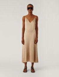 JOSEPH Delphia Texture Satin Dress / spaghetti strap dresses