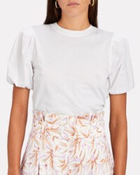 DEREK LAM 10 CROSBY Eva Puff Sleeve T-Shirt | white tee