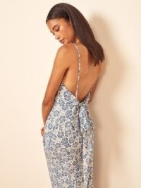REFORMATION Dietrich Dress / strappy back bow detail midi dresses