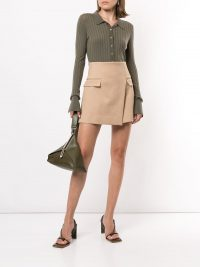 Dion Lee asymmetric mini skirt in beige