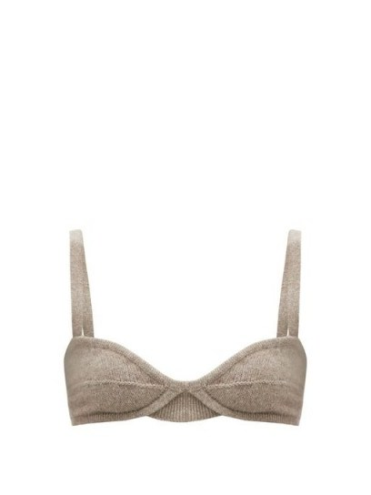 KHAITE Eda underwired cashmere bralette / knitted bralets / luxe bralettes - flipped