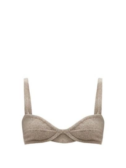 KHAITE Eda underwired cashmere bralette / knitted bralets / luxe bralettes