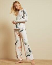 TED BAKER YALIINE Elegant jersey pyjama bottoms ~ printed pyjamas