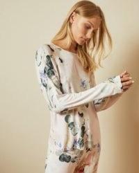 TED BAKER YALII Elegant jersey pyjama top ~ floral pyjamas ~ loungewear tops