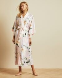 TED BAKER FLOTII Elegant kimono gown ~ pink floral robes ~ dressing gowns