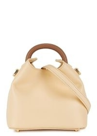 ELLEME Madeleine pale yellow leather cross-body bag – luxe crossbody with single top handle