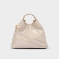 ELLEME Raisin Bag in Beige Mirror Leather