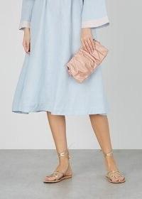 ELLEME Vague pink glossed leather shoulder bag / pleated bags