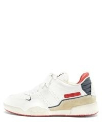 ISABEL MARANT Emree leather trainers | red, white and blue sneakers