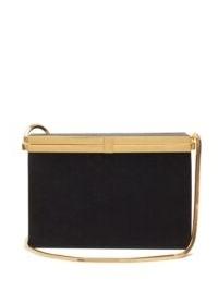 SAINT LAURENT Evening Box satin cross-body bag ~ luxury chain strap event bags ~ evening crossbody