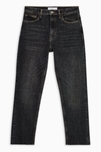 Topshop Extreme Wash Black Straight Jeans