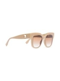 Fendi Eyewear oversize square-frame sunglasses | beige oversized sunnies | retro eyewear