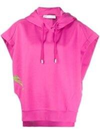Candy pink hoodies / FENTY Beyond Limits print short-sleeve hoodie