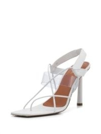 FENTY Code Word 105mm sandals – white leather strappy high heels