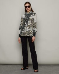 JIGSAW FLORAL COLLAGE SILK BLOUSE / bold flower print blouses