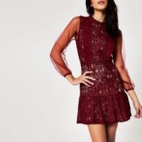 Forever Unique red lace waisted mini dress – LRD