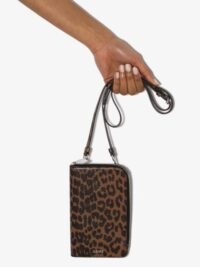 GANNI leopard print crossbody bag / small cross body bags