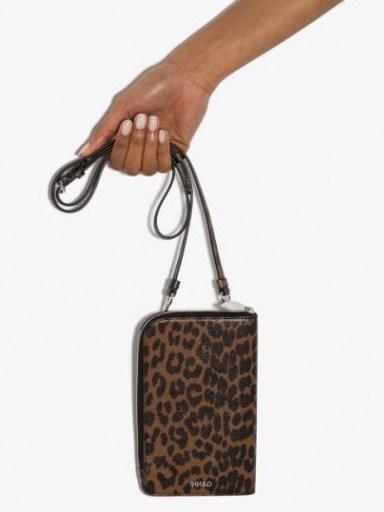 GANNI leopard print crossbody bag / small cross body bags - flipped